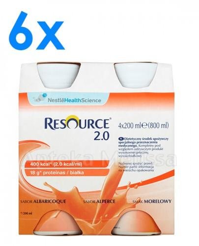 RESOURCE 2.0 Smak morelowy - 24 x 200 ml - Apteka internetowa Melissa