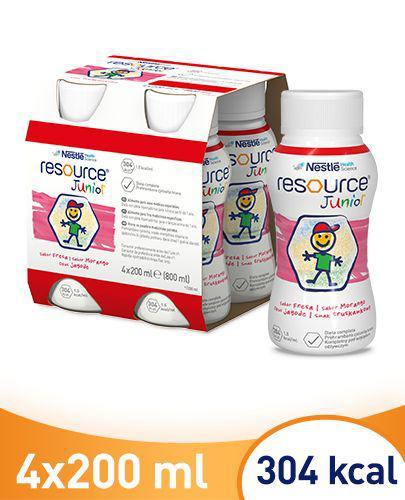 RESOURCE JUNIOR Smak truskawkowy - 4 x 200 ml Preparat odżywczy - cena, opinie, stosowanie