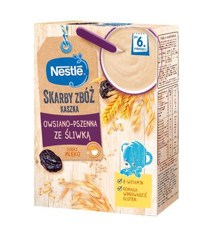 NESTLE SKARBY ZBÓŻ Kaszka owsiano pszenna ze śliwką po 6 miesiącu - 250 g - Apteka internetowa Melissa