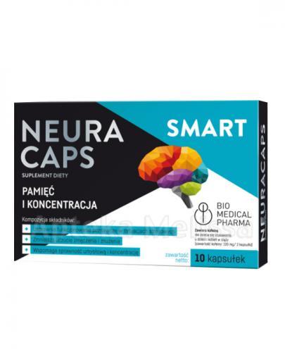 NEURACAPS SMART - 10 kaps. Na pamięć i koncentracje.