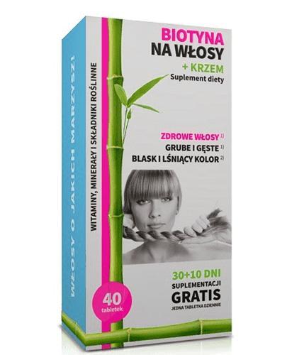 NOBLE HEALTH BIOTYNA NA WŁOSY + KRZEM - 40 tabl.