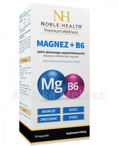 NOBLE HEALTH Magnez + B6 - 30 kaps.