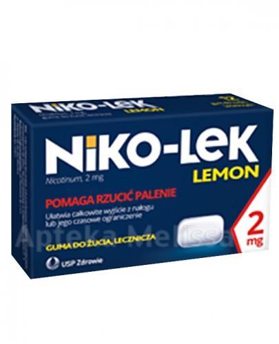 NIKO-LEK (NICCOREX) LEMON 2 mg gumy do żucia - 24 szt. - Apteka internetowa Melissa