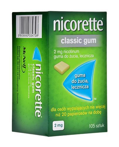 NICORETTE Classic 2 mg - 105 szt. Gumy do żucia na rzucanie palenia - cena, opinie, właściwości - Apteka internetowa Melissa