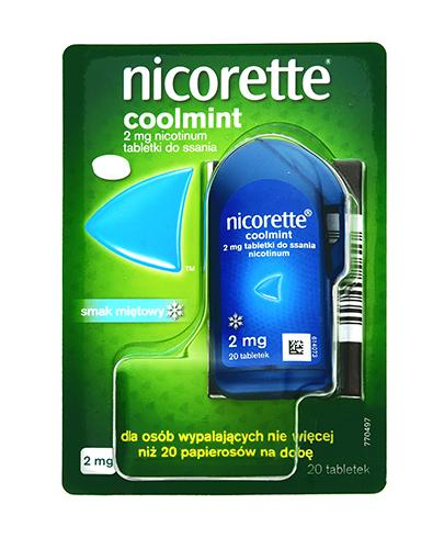 NICORETTE Coolmint 2 mg - 20 tabl. Na rzucanie palenia - cena, opinie, stosowanie