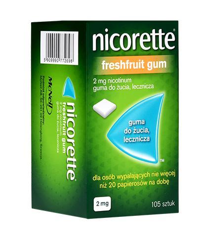 NICORETTE Fresh Fruit 2 mg - 105 szt. Gumy na rzucanie palenia - cena, opinie, właściwości - Apteka internetowa Melissa