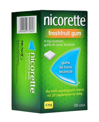 NICORETTE Fresh Fruit 4 mg - 105 szt. Na rzucanie palenia - cena, opinie, stosowanie - Apteka internetowa Melissa