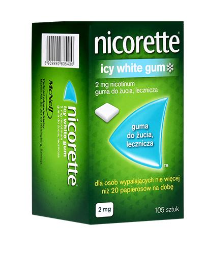 NICORETTE Icy White 2 mg - 105 szt. Na rzucenie palenia - cena, opinie, właściwości - Apteka internetowa Melissa
