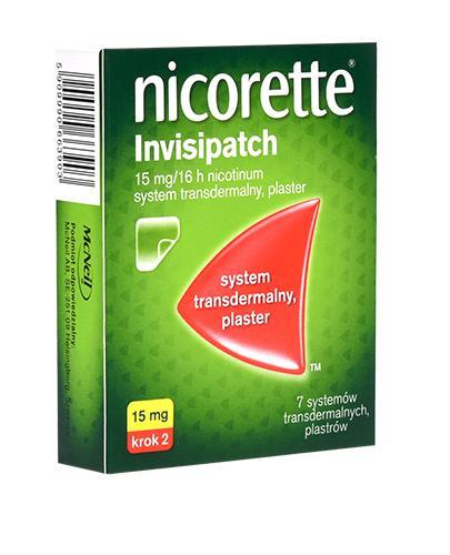 NICORETTE INVISIPATCH 15 mg Plastry 16 godz. - 7 szt. Na rzucanie palenia - cena, opinie, stosowanie