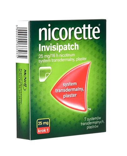 NICORETTE INVISIPATCH 25 mg Plastry 16 godz. - 7 szt. Na rzucanie palenia - cena, opinie, wskazania