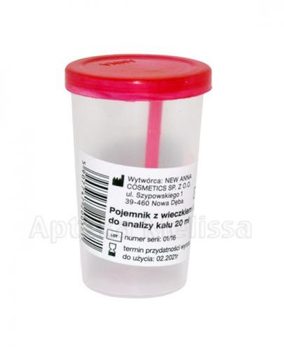 Niejałowy pojemnik na kał - 20 ml - Apteka internetowa Melissa