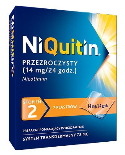 NIQUITIN 14 mg/24 h - 7 plast. - Lek na rzucenie palenia