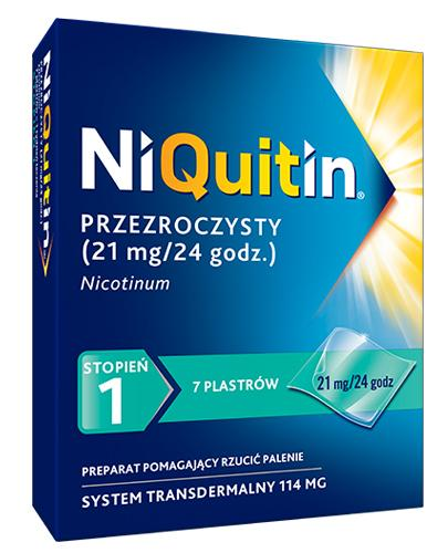 NIQUITIN 21 mg/24 h - 7 plast.- Lek na rzucenie palenia