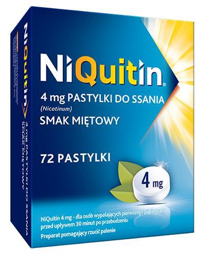NIQUITIN Pastylki do ssania o smaku miętowym 4 mg - 72 szt.