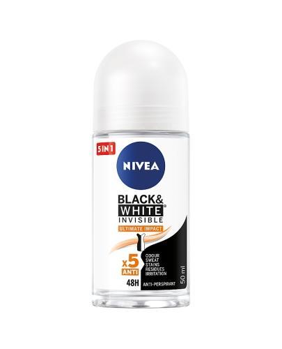 Nivea Black & White Invisible Ultimate Impact Antyperspirant w kulce 48h - 50 ml - cena, opinie, właściwości