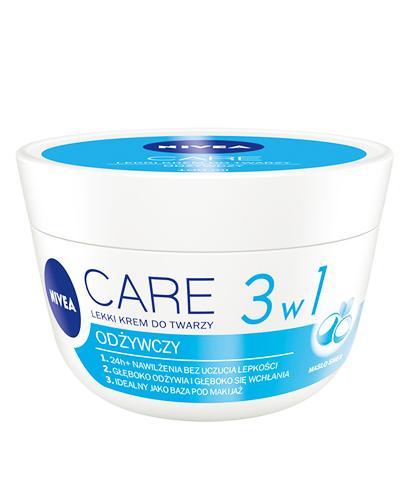 NIVEA CARE Lekki krem do twarzy 3w1 odżywczy - 100 ml. Każdy typ skóry. - Apteka internetowa Melissa