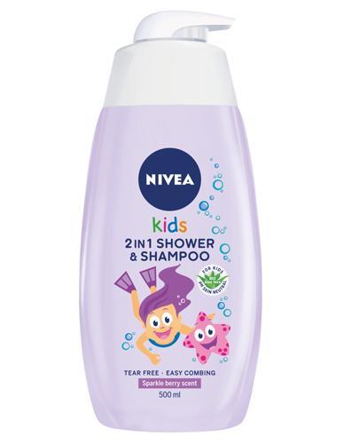 NIVEA KIDS Żel do mycia ciała i włosów 2w1 o zapachu owocowych żelków  - 500 ml - cena, opinie, właściwości - Drogeria Melissa