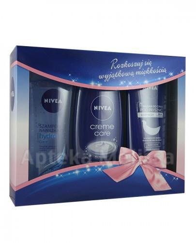 NIVEA Szampon - 250 ml + Kremowy żel pod prysznic - 250 ml + Odżywczy balsam - 250 ml   – Apteka internetowa Melissa