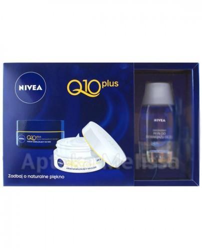NIVEA Q10 PLUS Krem przeciwzmarszczkowy na dzień - 50 ml + Krem przeciwzmarszczkowy na noc - 50 ml + Dwufazowy płyn do demakijażu - 125 ml  - Apteka internetowa Melissa