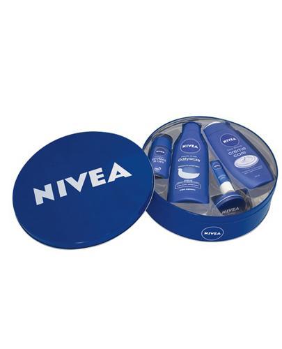 NIVEA ZESTAW Żel pod prysznic + Mleczko do ciała + Antyperspirant roll-on + Krem + Pomadka do ust - 250 ml + 250 ml + 50 ml + 30 ml + 4,8 g - Apteka internetowa Melissa