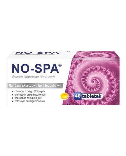 NO-SPA 40 mg - 40 tabletek. Na ból brzucha, skurcze.