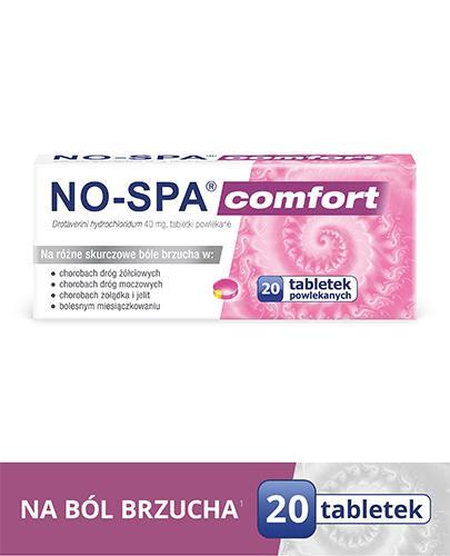 NO-SPA COMFORT 40 mg - 20 tabletek. Na ból brzucha, skurcze.