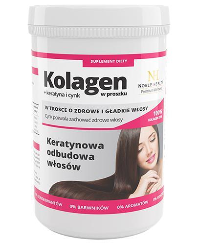 NOBLE HEALTH Kolagen w proszku + keratyna i cynk - 100 g - Apteka internetowa Melissa