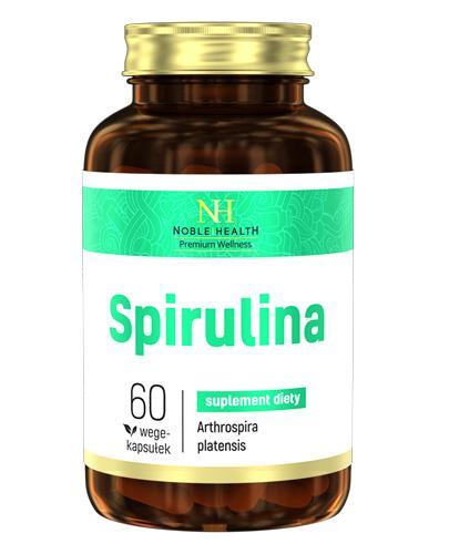 NOBLE HEALTH Spirulina - 60 kaps. - uzupełnienie diety w białko - cena, opinie, wskazania - Apteka internetowa Melissa
