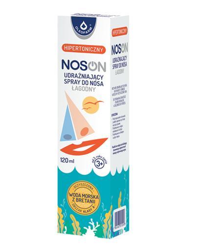 NOSON Woda morska hipertoniczna - 120 ml Ułatwia usuwanie wydzieliny - cena, opinie, wskazania