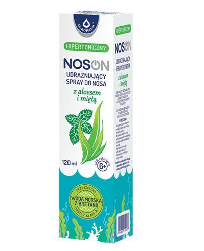 NOSON Woda morska hipertoniczna z aloesem - 120 ml Oczyszcza przewody nosowe - cena, opinie, włąściwości - Apteka internetowa Melissa