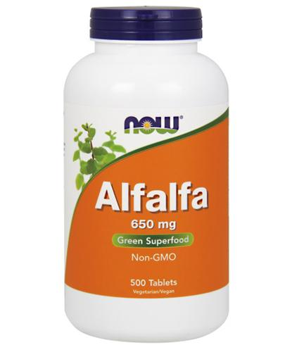 NOW FOODS Alfalfa 650 mg - 500 tabl. - Drogeria Melissa