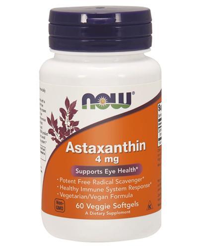NOW FOODS Astaxanthin 4 mg - 60 kaps. - Apteka internetowa Melissa