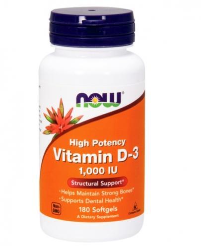 NOW FOODS Vitamin D-3 1000 IU - 180 kaps.