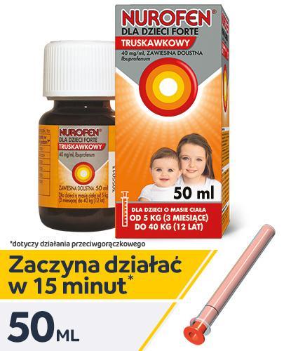 NUROFEN FORTE Dla dzieci truskawkowy 40 mg/ml - 50 ml - Apteka internetowa Melissa