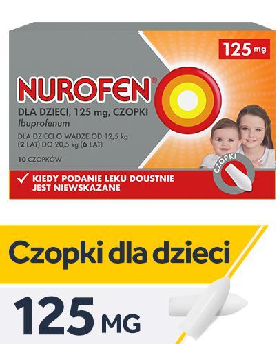NUROFEN Dla Dzieci 125 mg - 10 czop. - Apteka internetowa Melissa