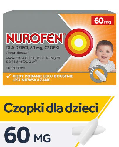NUROFEN Dla Dzieci 60 mg - 10 czop. - Apteka internetowa Melissa