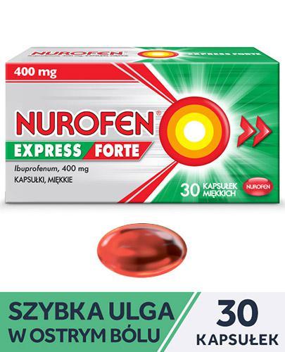NUROFEN EXPRESS FORTE - 30 kaps. - lek przeciwbólowy i przeciwzapalny - cena, opinie, wskazania