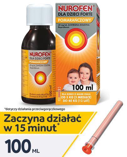 NUROFEN FORTE Dla dzieci pomarańczowy 40 mg/ml - 100 ml - Apteka internetowa Melissa