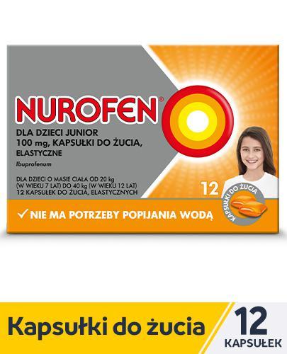 NUROFEN JUNIOR Kapsułki do żucia 100 mg - 12 kaps. Data ważności: 2019.06.30 - Apteka internetowa Melissa