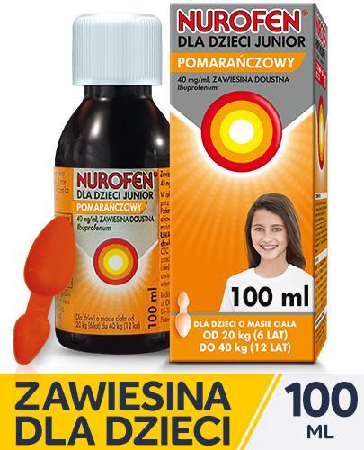 NUROFEN JUNIOR Zawiesina doustna smak pomarańczowy - 100 ml - Apteka internetowa Melissa
