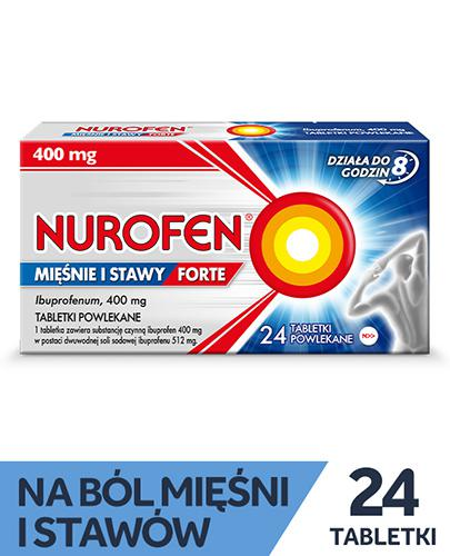 NUROFEN MIĘŚNIE I STAWY FORTE 400mg - 24 tabl. - Apteka internetowa Melissa