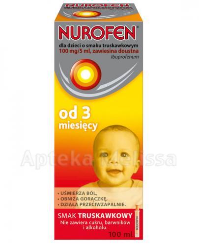 NUROFEN Zawiesina doustna dla dzieci 100 mg/5 ml smak truskawkowy  - 100 ml - Apteka internetowa Melissa