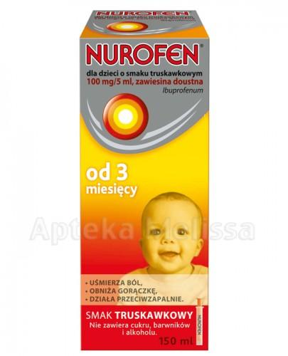 NUROFEN Zawiesina doustna dla dzieci 100 mg/5 ml smak truskawkowy - 150 ml - Apteka internetowa Melissa