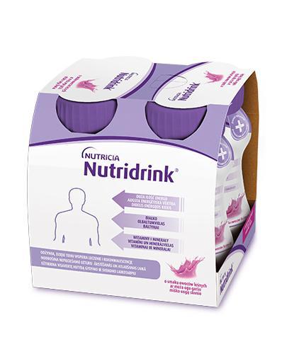 NUTRIDRINK O smaku owoców leśnych - 4 x 125 ml. Żywienie medyczne.