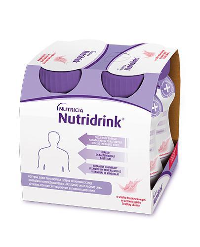 NUTRIDRINK O smaku truskawkowym - 4 x 125 ml. Żywienie medyczne. - Drogeria Melissa