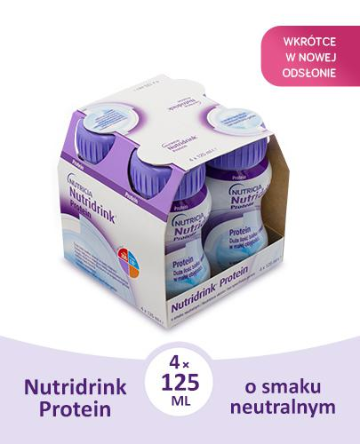 NUTRIDRINK PROTEIN Neutralny - 4 x 125 ml. Dla pacjentów onkologicznych.