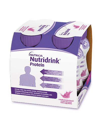 NUTRIDRINK PROTEIN Owoce leśne - 4 x 125 ml. Dla pacjentów onkologicznych.