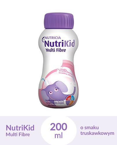 NUTRIKID MULTI FIBRE Smak truskawkowy - 200 ml - Apteka internetowa Melissa