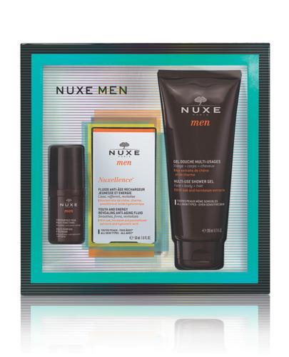 NUXE MEN Zestaw Nuxellence Krem pod oczy + Krem do twarzy + Żel pod prysznic - 15 ml + 50 ml + 200 ml - cena, opinie, właściwości - Apteka internetowa Melissa