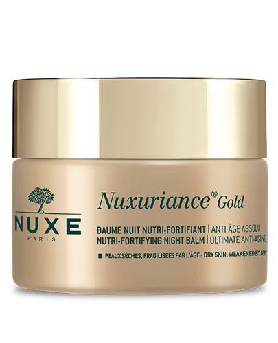 NUXE NUXURIANCE GOLD Odżywczy balsam wzmacniający na noc - 50 ml. Do skóry dojrzałej, suchej i poszarzałej.